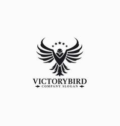 Victory bird - eagle logo template vector