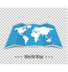 world map realistic on a isolated background vector image