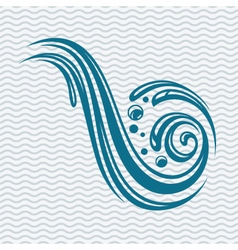 abstract water icon vector image vector image