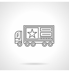 Advertising on vehicles flat line icon vector image