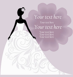 Bride in a white wedding dress vector image