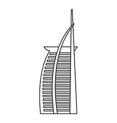 Hotel Burj Al Arab United Arab Emirates icon vector image vector image