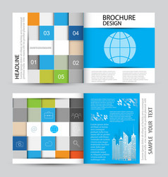 modern abstract brochure vector image