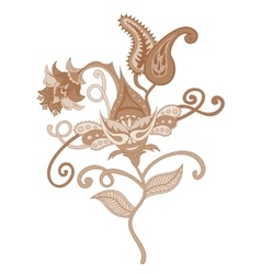 Paisley indian ornament vector image vector image