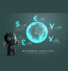 currency business analysis vector image vector image