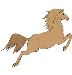 Funny brown horse vector image