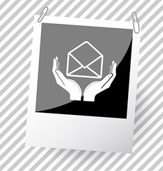 open mail with hands vector image