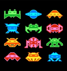 space invaders vector image vector image