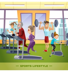 Sports family flat template vector