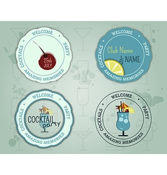 Summer cocktail party badge and logo layout vector image