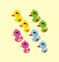 Colorful little duck vector image vector image