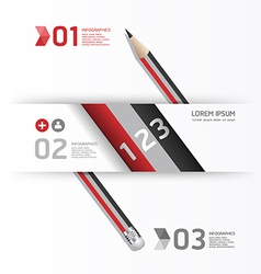 Creative Template with pencil banner vector image vector image