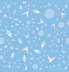 funny pattern memphis style vector image vector image