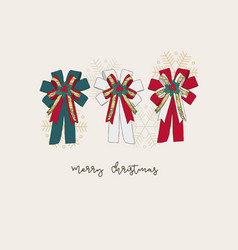 ribbon christmas concept hand draw sketch gift vector image