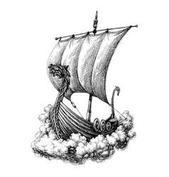 sail boat drawing vector image