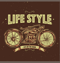 t-shirt or poster design vector image vector image