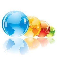 Color globe vector image vector image