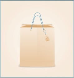 Craft paper shopping bag vector image