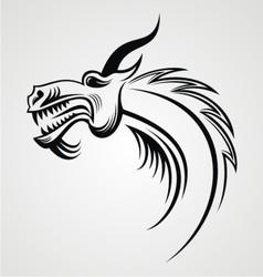 Dragon Head Tattoo Design vector image vector image