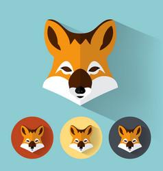 fox portrait with flat design vector image
