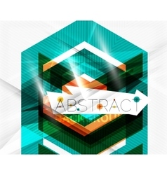 Geometric abstract background Arrow design vector image vector image