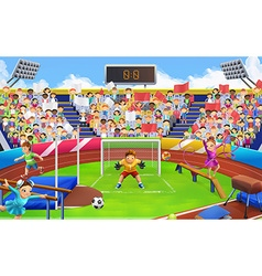Stadium sports arena background vector image