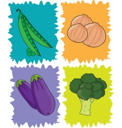 Veggies vector image