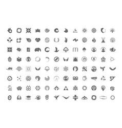 A huge collection trendy unusual symbols vector