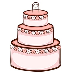 A simple drawing of a wedding cake vector
