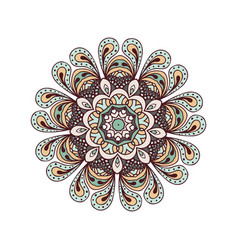 abstract design elements round mandalas in vector image