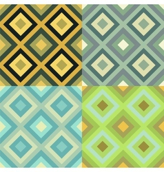 Abstract geometrical seamless pattern set vector image