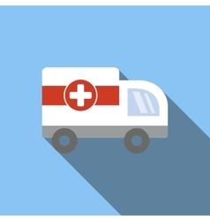 Ambulance flat icon vector