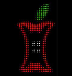 Apple stump halftone icon vector