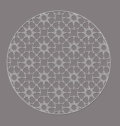 arabic decorative round element with stars vector image