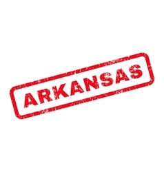 Arkansas Text Rubber Stamp vector image