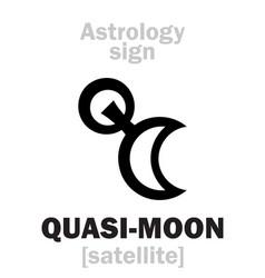 Astrology quasi-moon vector