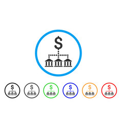 Bank scheme rounded icon vector