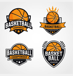 Basketball logo template vector