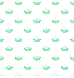 Bath for baby pattern cartoon style vector