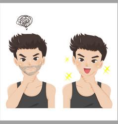 Beard shaving vector