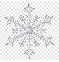 big translucent christmas snowflake vector image