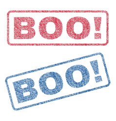 Boo exclamation textile stamps vector