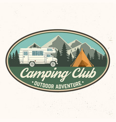 Camping club vector