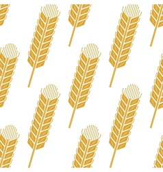 Cartoon cereal wheat or barley spikes seamless vector image