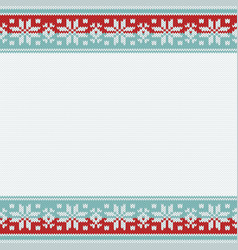 christmas knitted background with copy space vector image