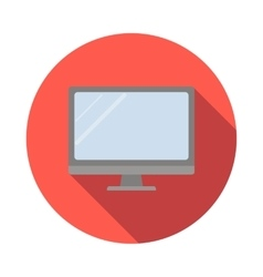 Computer monitor flat style vector image