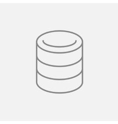 Computer server line icon vector