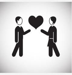Couple in love on white backgorund vector