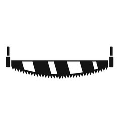 crosscut hand saw icon simple style vector image