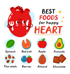 Cute heart with fork and knife best foods vector